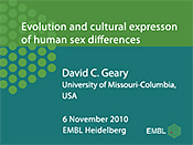 Evolution and Cultural Expression of Human Sex Differences