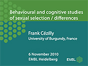 Behavioural and cognitive studies of sexual selection/differences